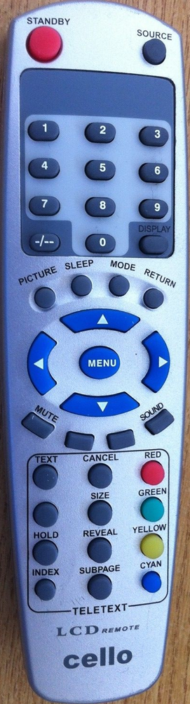 Cello LCD Remote