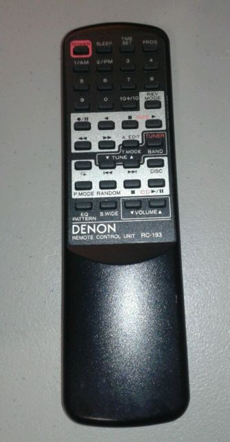 Denon RC-193 Remote,Denon RC193 Remote
