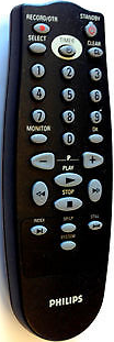 Philips Rt172/101 Vcr Remote Control Vr67505 Vr17505
