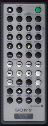 Sony RM-SCEX5 Remote