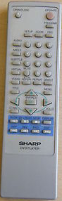 Sharp SHDV740H Remote,Sharp Dvd Remote