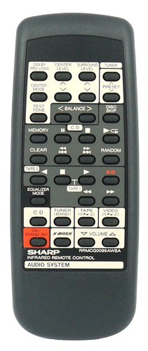 Sharp RRMCG0095AWSA Remote,Sharp RRMCG0095AWSA Remote Control