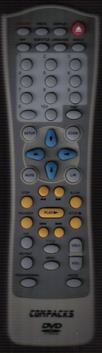 Compacks Dvd Remote.